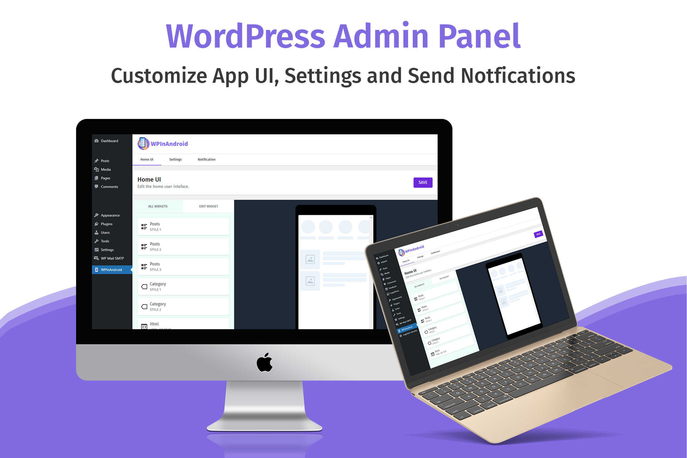 WPInAndroid - Make An Android App For Your WordPress Website - 2